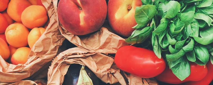 Frutas y verduras de temporada para la lista de la compra